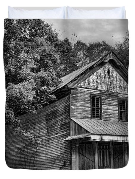 The Local Haunted House Duvet Cover by Heather Applegate