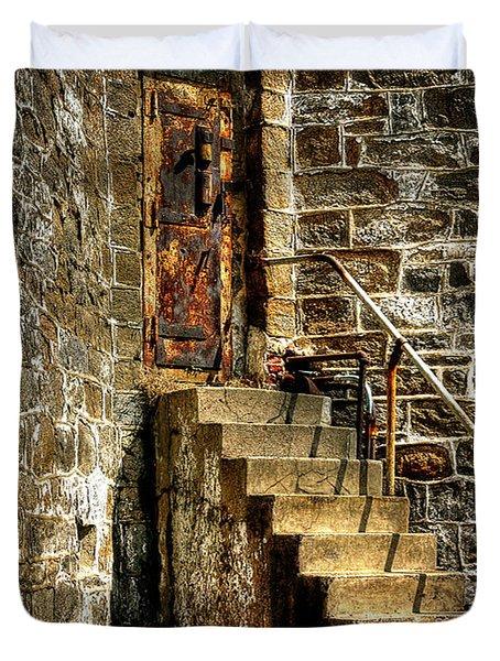 The Locked Door Duvet Cover by Lois Bryan