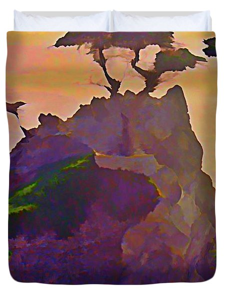The Lone Cypress Duvet Cover by John Malone
