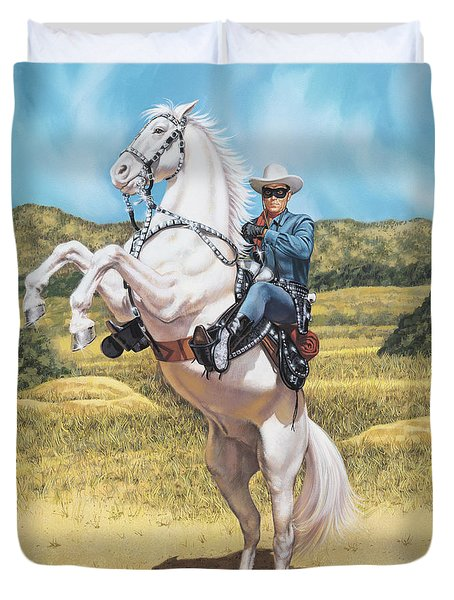 The Lone Ranger Duvet Cover by Dick Bobnick