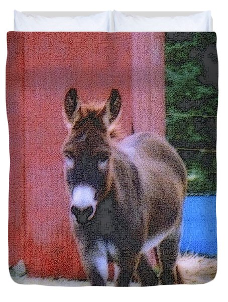 The Lonely Donkey Duvet Cover by Kay Novy