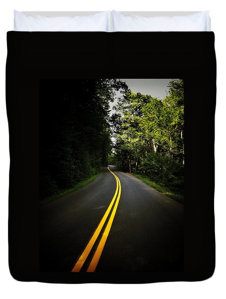 The Long and Winding Road Duvet Cover by Natasha Marco