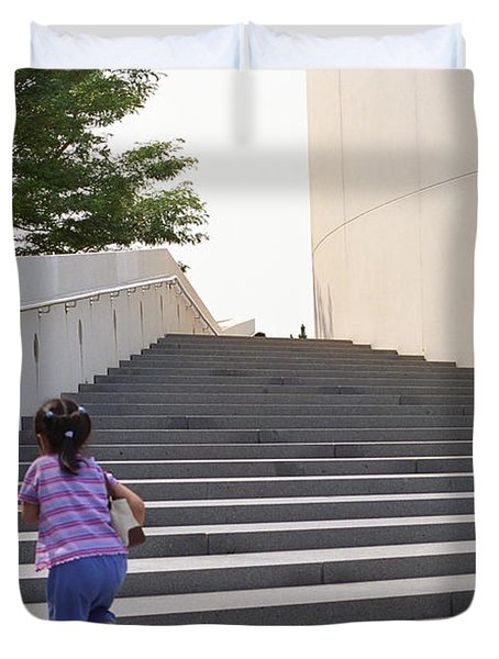 The Long Climb Duvet Cover by Frank Romeo