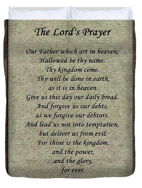 The Lord's Prayer Duvet Cover by Roger Reeves  and Terrie Heslop