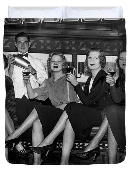 The Lucky Bartender Duvet Cover by Jon Neidert