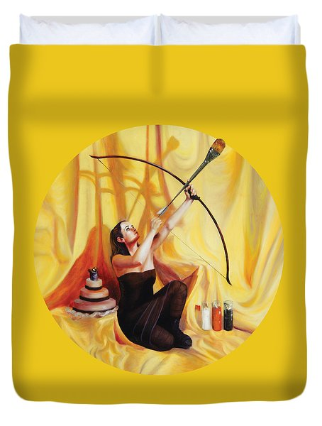 The Markswoman Duvet Cover by Shelley Irish