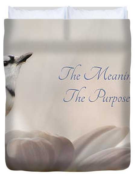 The Meaning of Life Duvet Cover by Lori Deiter