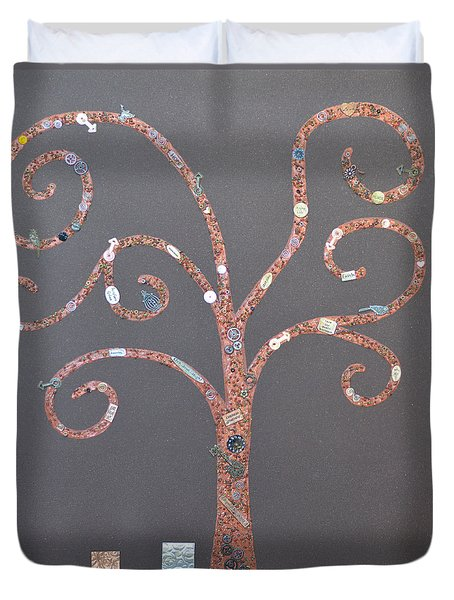 The Menoa Tree Duvet Cover by Angelina Vick