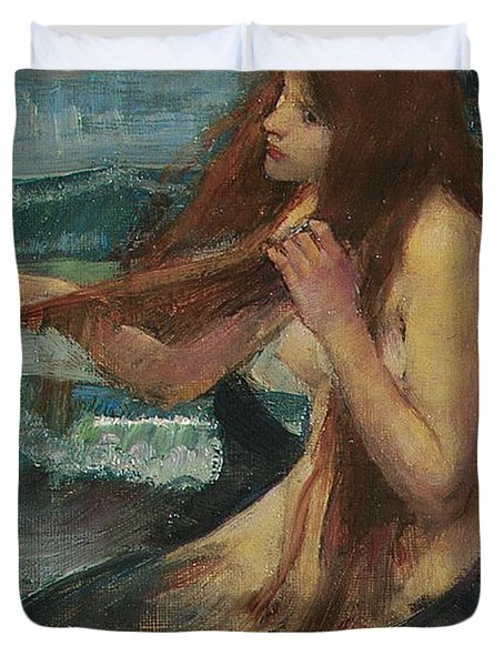The Mermaid Duvet Cover by John William Waterhouse