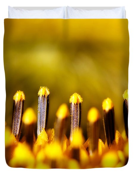 the Miracle of a Single Flower Duvet Cover by Lisa Knechtel