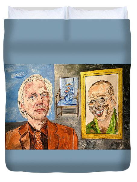 The Mirrored Truth Duvet Cover by Valerie Ornstein