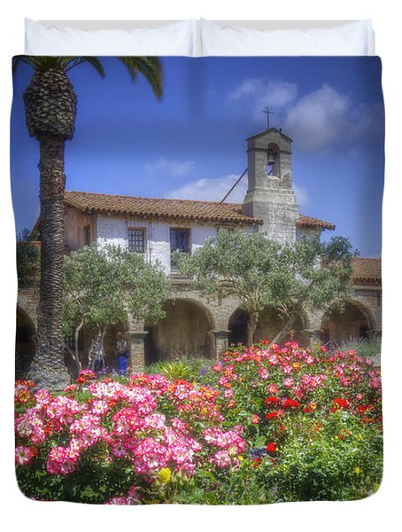 The Mission Duvet Cover by Joan Carroll