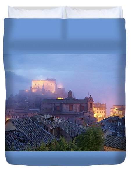 The Mists Of Soriano Duvet Cover by Ellen Henneke