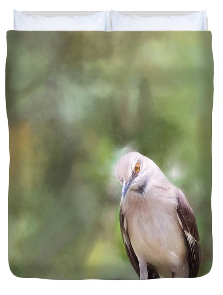The Mockingbird Duvet Cover by David and Carol Kelly