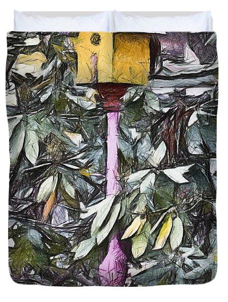 The Monkey's Garden Duvet Cover by Trish Tritz