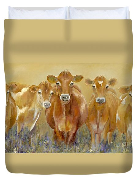 The Morning Moo Duvet Cover by Catherine Davis