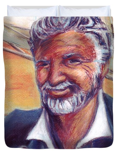 The Most Interesting Man in the World Duvet Cover by Samantha Geernaert