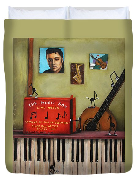 The Music Box Duvet Cover by Leah Saulnier The Painting Maniac