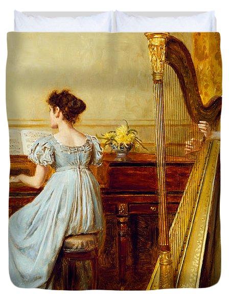 The Music Room Duvet Cover by George Goodwin Kilburne