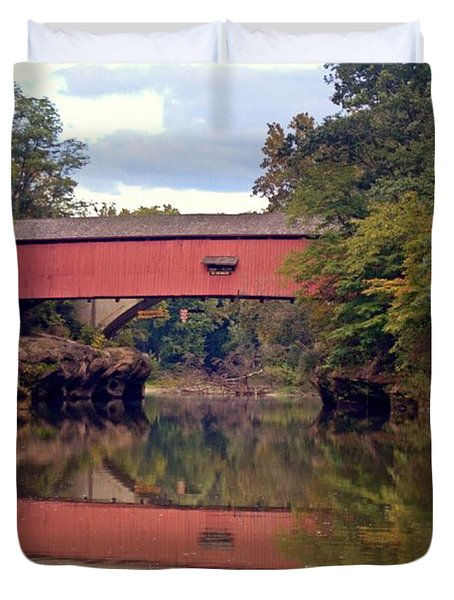 The Narrows Covered Bridge 4 Duvet Cover by Marty Koch