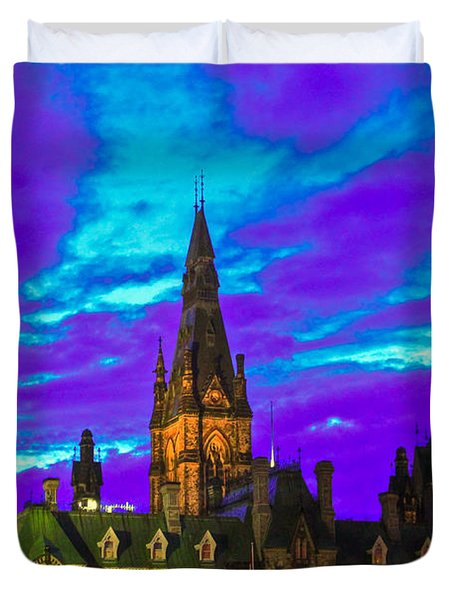 The Night Of The Thousand Spells Duvet Cover by Eti Reid