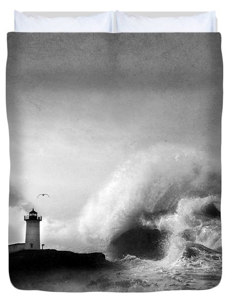 The Nubble In Trouble Duvet Cover by Lori Deiter