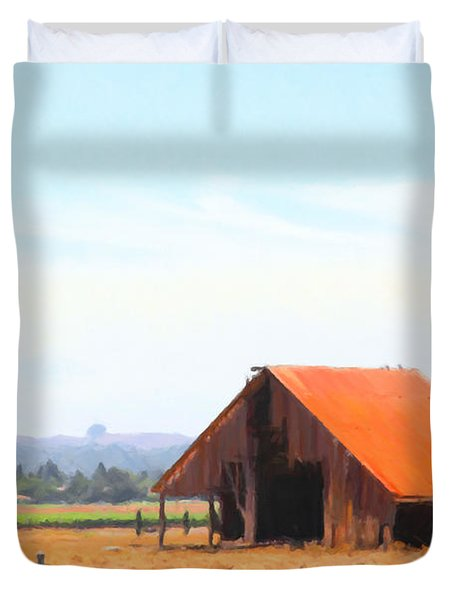 The Old Barn 5d24404 Duvet Cover by Wingsdomain Art and Photography