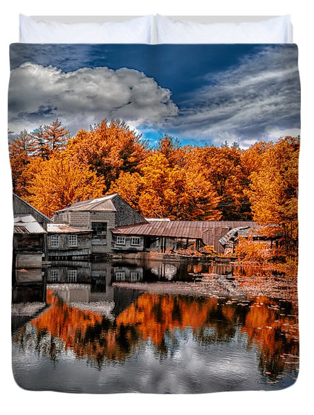 The Old Boat House Duvet Cover by Bob Orsillo