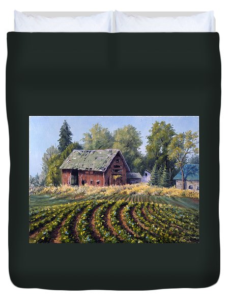 The Old Farmstead Duvet Cover by Rick Hansen