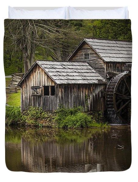 The Old Mill After the Rain Duvet Cover by Amber Kresge