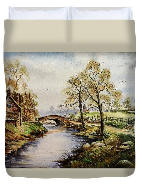 The Old Mill Path Duvet Cover by Andrew Read