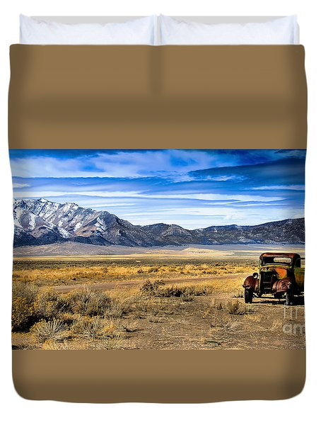 The Old One Duvet Cover by Robert Bales