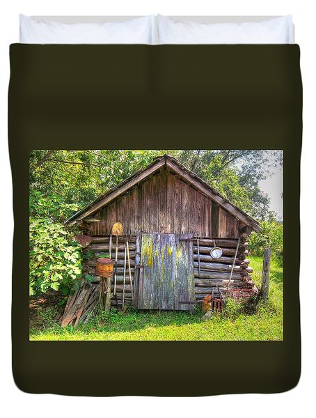 The Old Tool Shed II Duvet Cover by Lanita Williams