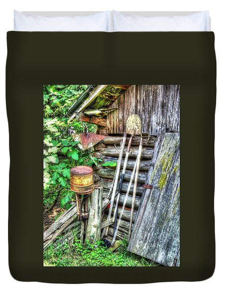 The Old Tool Shed Duvet Cover by Lanita Williams