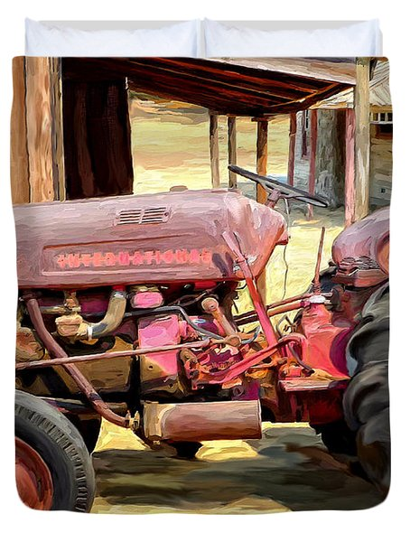 The Old Tractor Duvet Cover by Michael Pickett