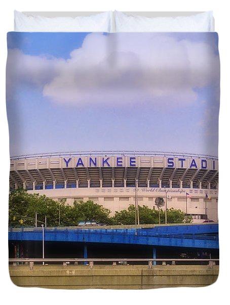 The Old Yankee Stadium Duvet Cover by Joann Vitali
