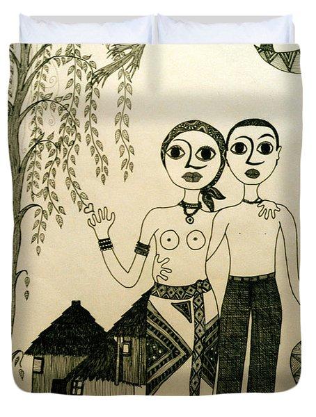 The Original Sin Duvet Cover by Madalena Lobao-Tello