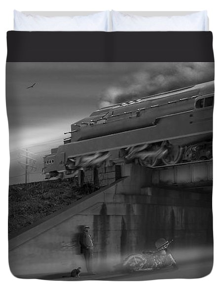 The Overpass 2 Panoramic Duvet Cover by Mike McGlothlen
