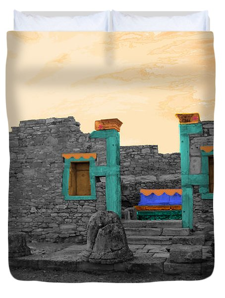 The Palaestra - Kourion-apollon Duvet Cover by Augusta Stylianou