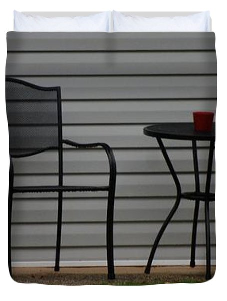 THE PATIO in LIVING COLOR Duvet Cover by ROB HANS