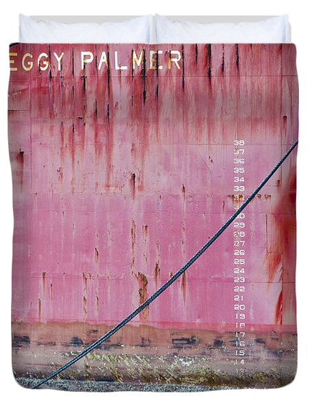 The Peggy Palmer Barge Duvet Cover by Carolyn Marshall