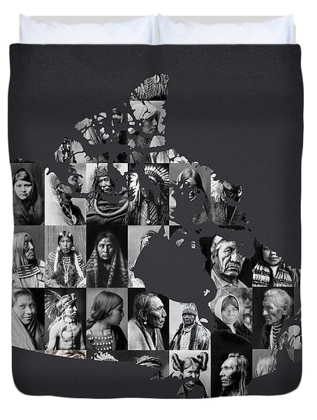The People Of Canada Duvet Cover by Aged Pixel
