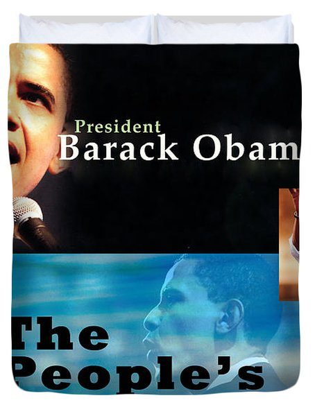 The People's President Still Duvet Cover by Terry Wallace