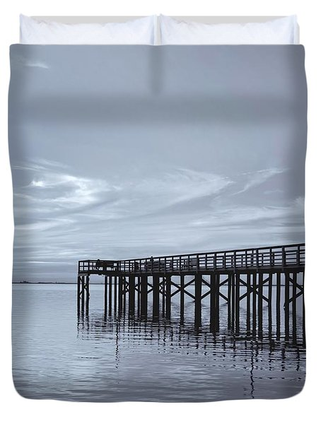 The Pier Duvet Cover by Kim Hojnacki