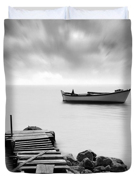 The Pier Duvet Cover by Taylan Soyturk