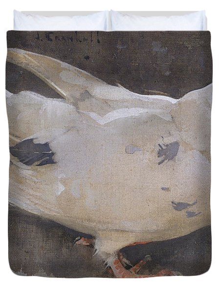 The Pigeon Duvet Cover by Joseph Crawhall