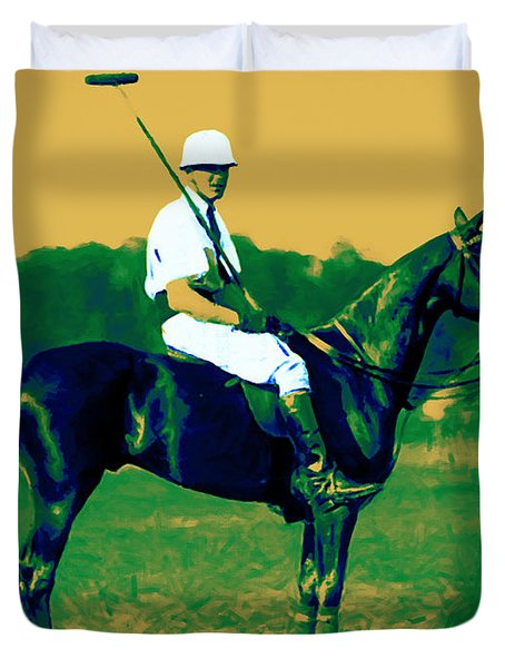 The Polo Player - 20130208 Duvet Cover by Wingsdomain Art and Photography