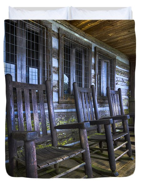 The Porch Duvet Cover by Debra and Dave Vanderlaan