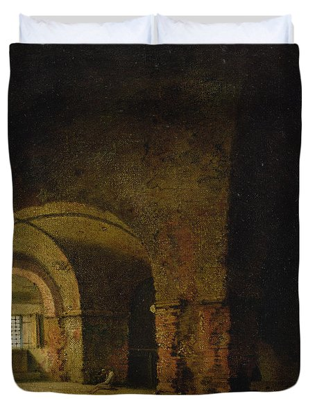 The Prisoner, C.1787-90 Oil On Canvas Duvet Cover by Joseph Wright of Derby