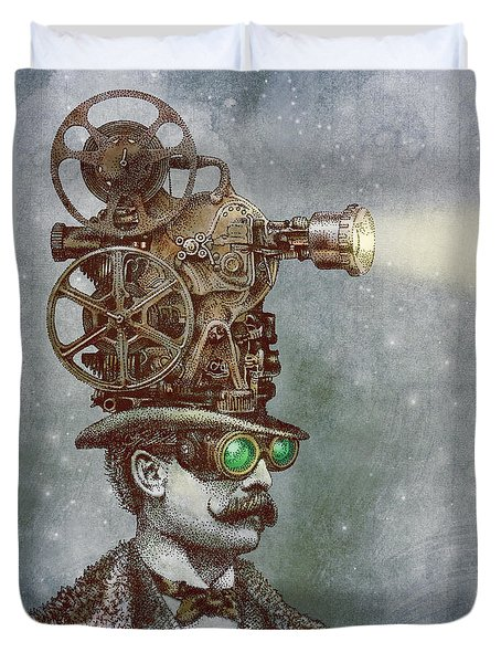 The Projectionist Duvet Cover by Eric Fan